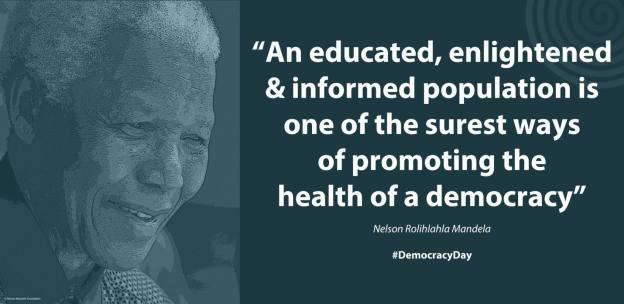 "Nelson Mandela speaking at St. John's College, Johannesburg, South Africa, 6 October 2003 #LivingTheLegacy #MadibaRemembered #DemocracyDay"" (Photo: Nelson Mandela / Facebook)"